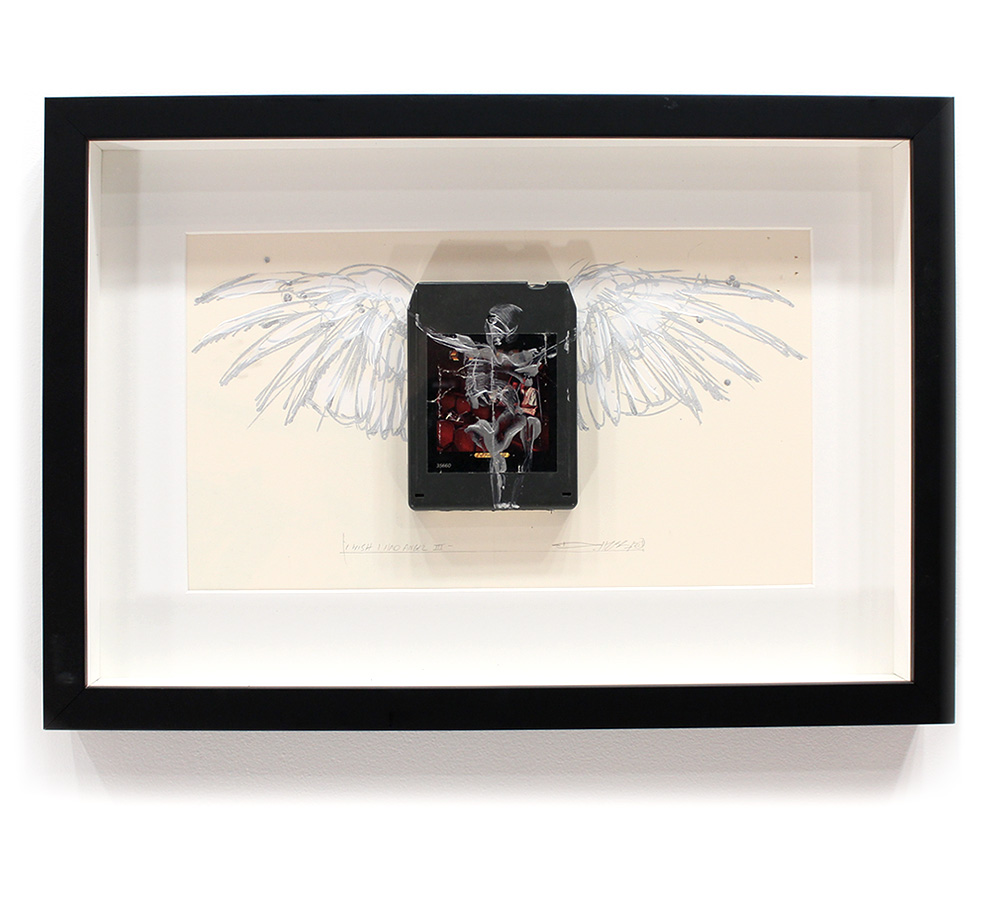Derek Hess Original Art - I Wish I Had An Angel III - Kansas - Two For the Show
