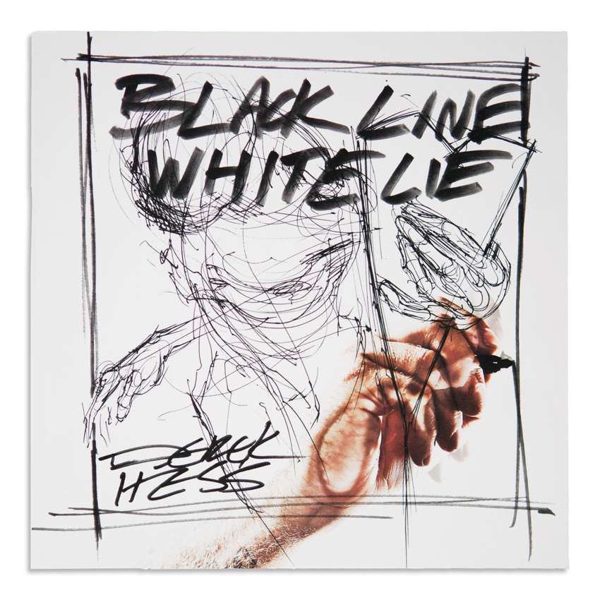 Derek Hess Book - Black Line White Lie (Signed)