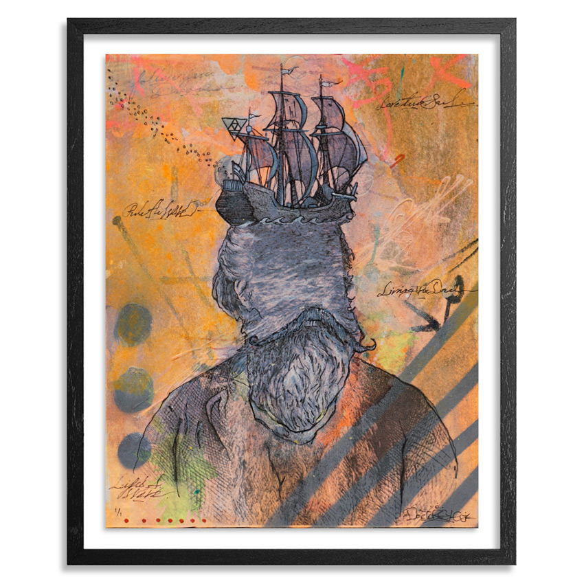 Doctor Eye Original Art - Sailing The Rough Seas