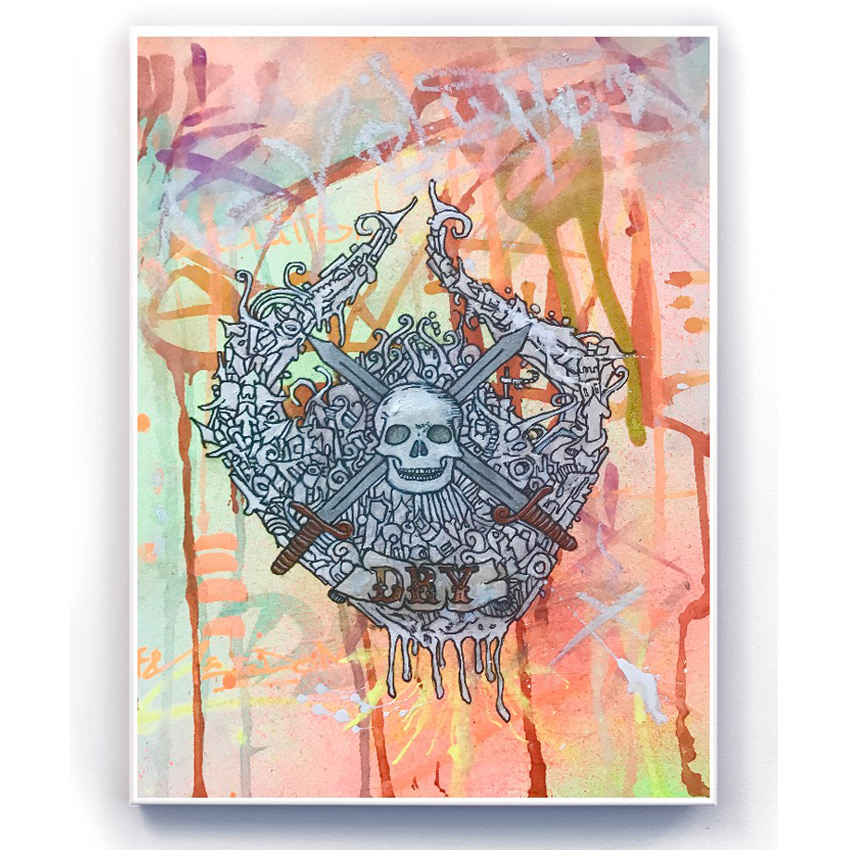 Doctor Eye Original Art - Skull N Bones