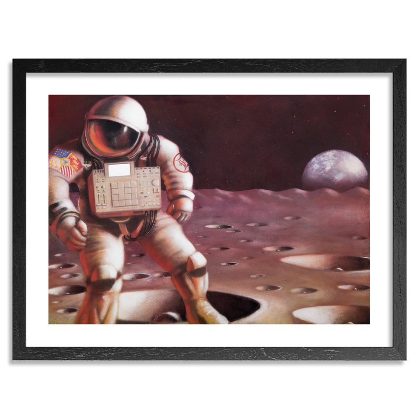 Drummer B & Ron Zakrin Art - Spacebounce - Limited Edition Prints
