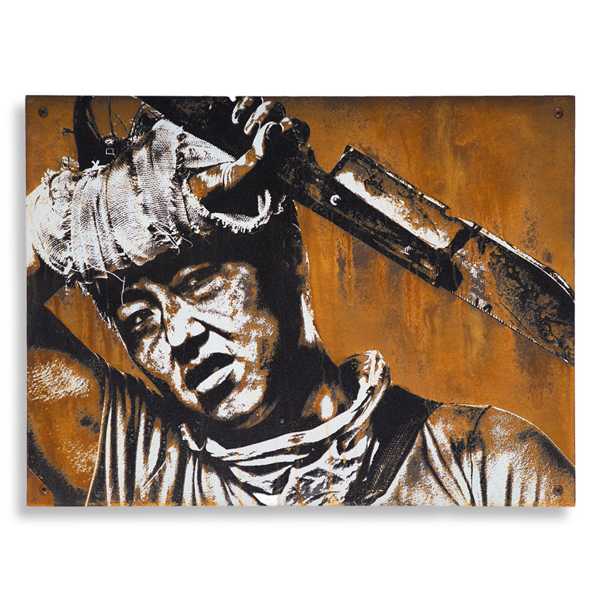Eddie Colla Hand-painted Multiple - Culling - Limited Edition Rust Print