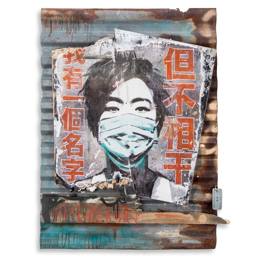Eddie Colla Hand-painted Multiple - I Have A Name, But It Doesn't Matter - 4/6