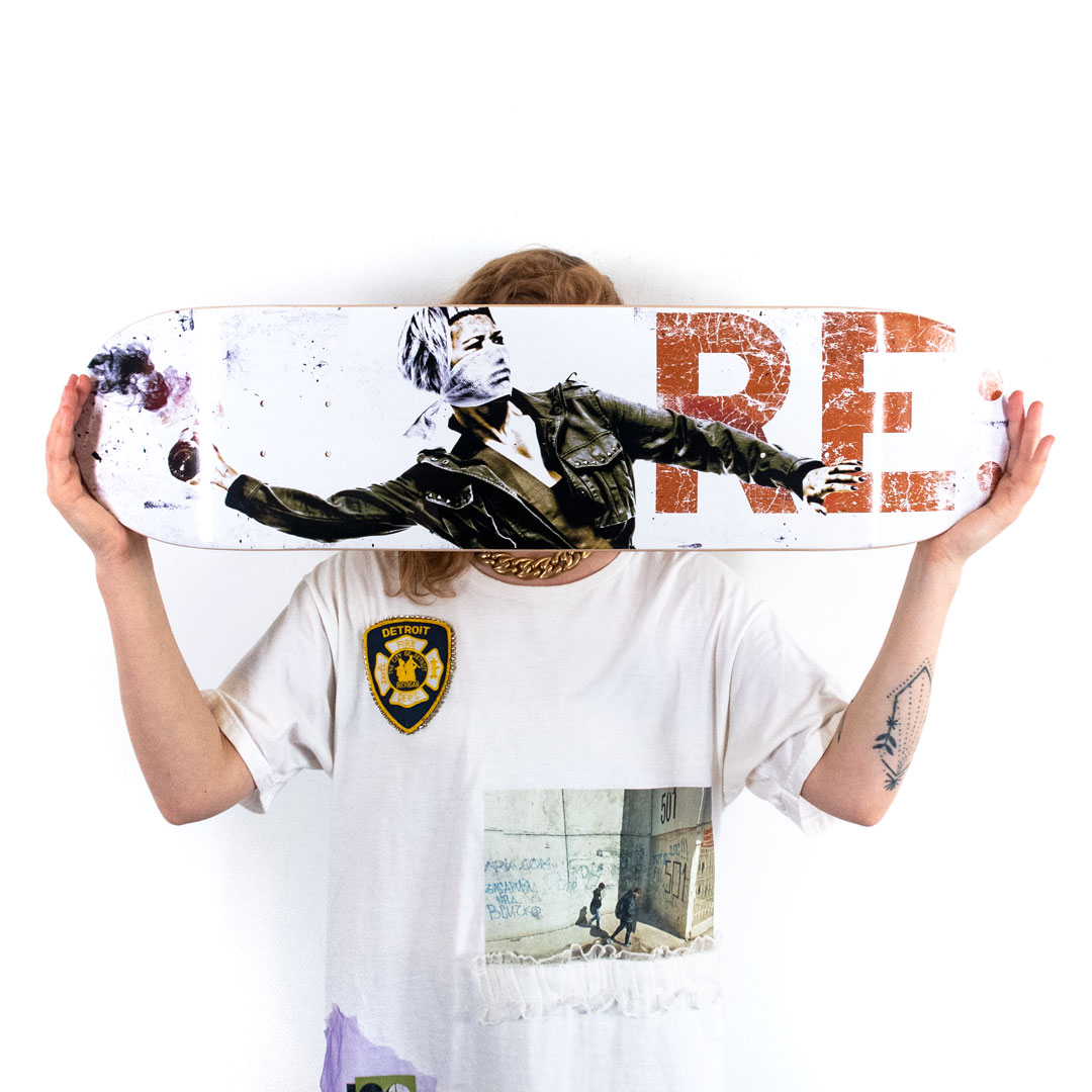 Eddie Colla Art Print - In Response To... - Skate Deck Variant