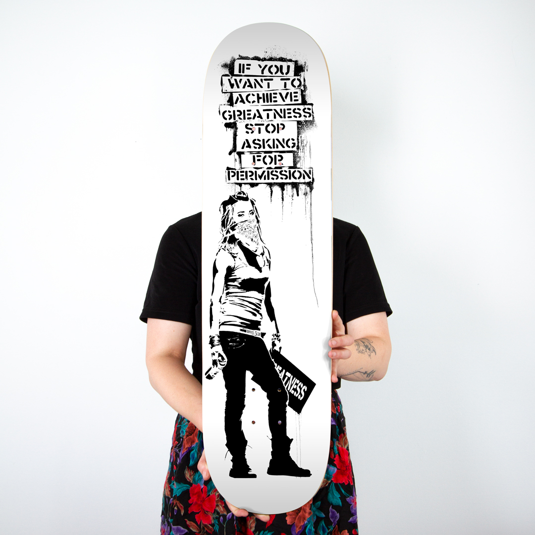 Eddie Colla Art Print - Ambition - White - Skate Day Variant