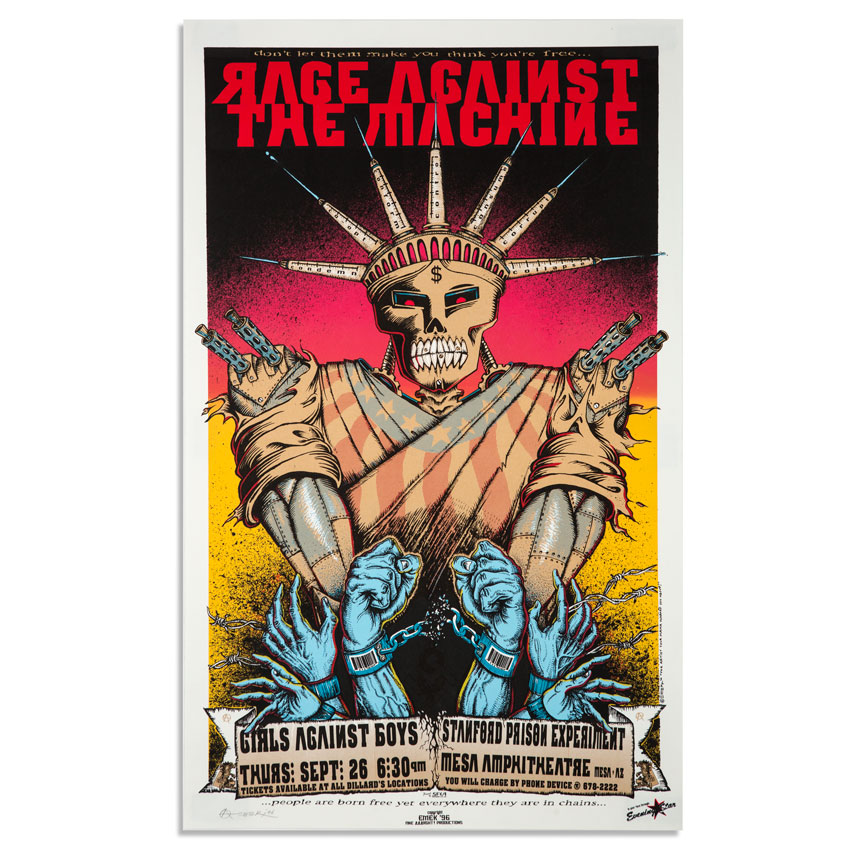 Emek Art - Rage Against The Machine at Mesa Amphitheatre