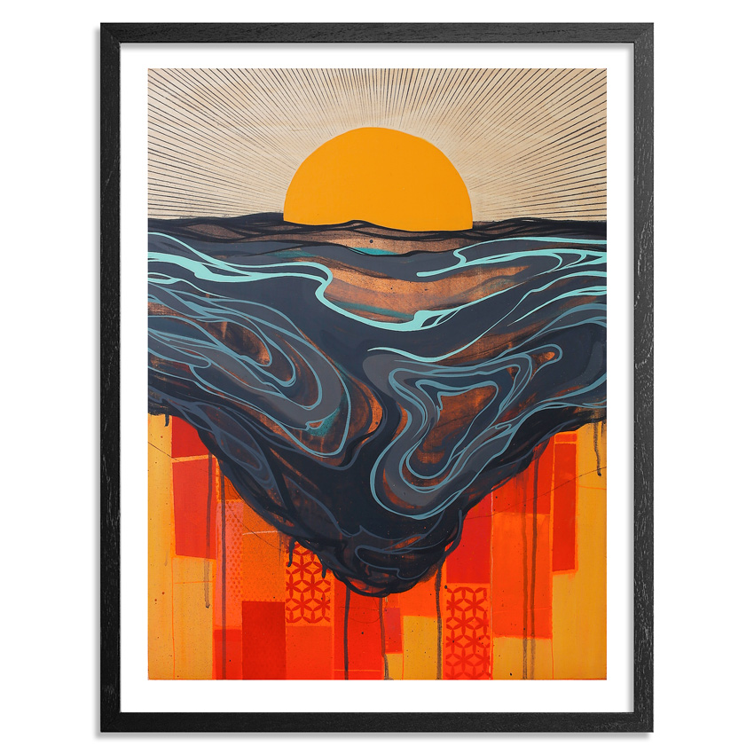 Erik Otto Art Print - Chasing The Sun - Framed