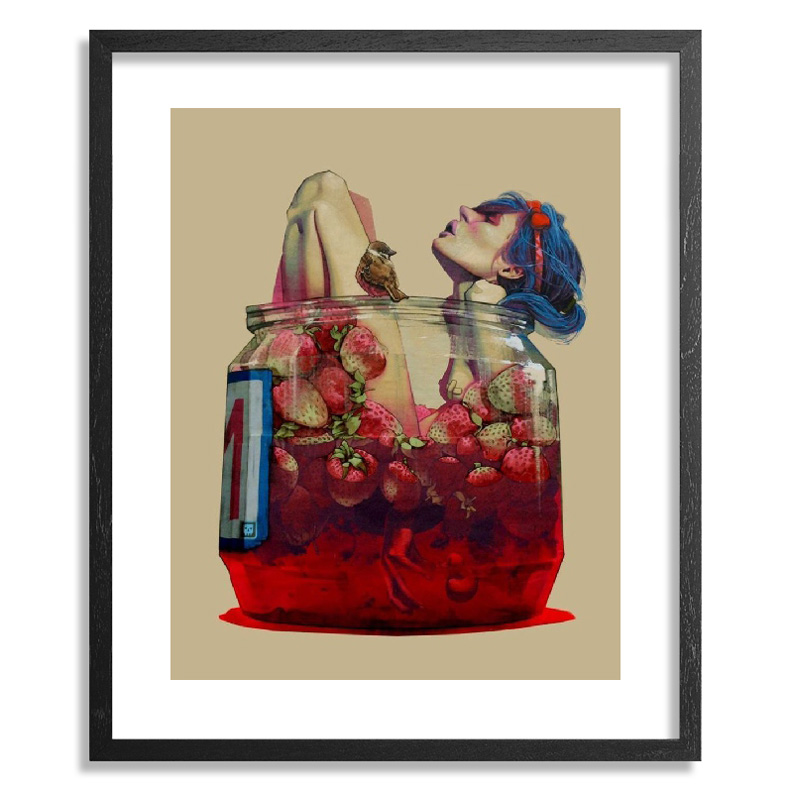 Etam Cru Art Print - Moonshine - Framed