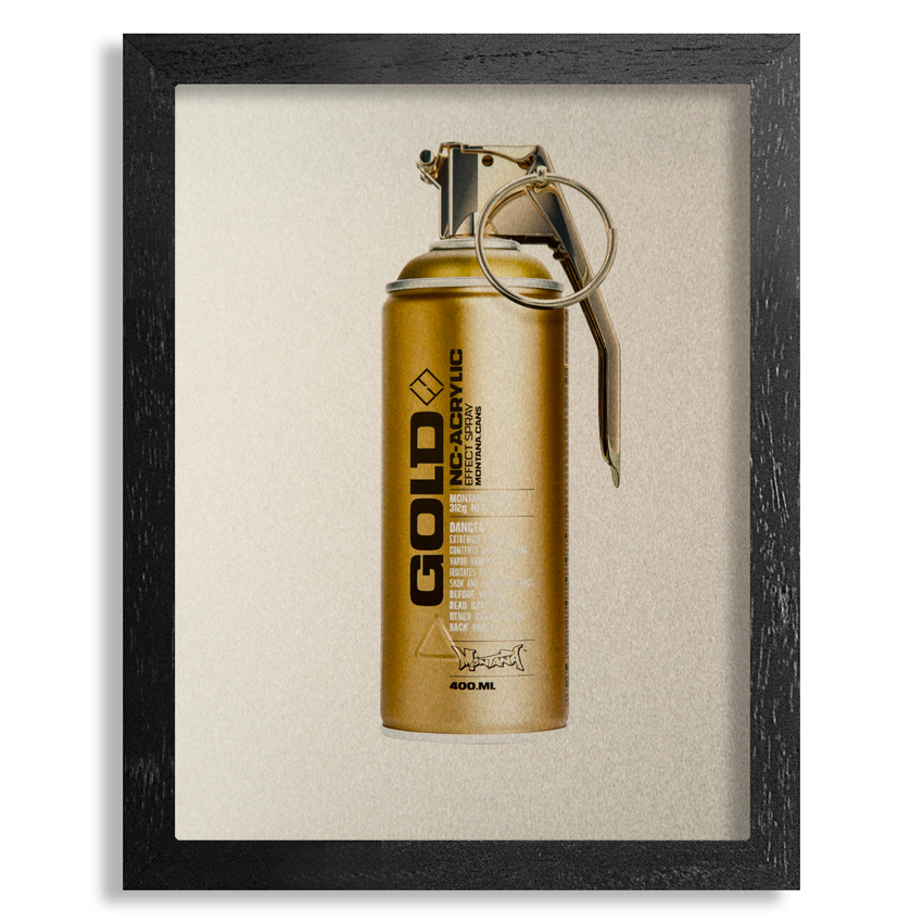 Fil Fury Art Print - Bombing - 8x10 Inch Gold Edition