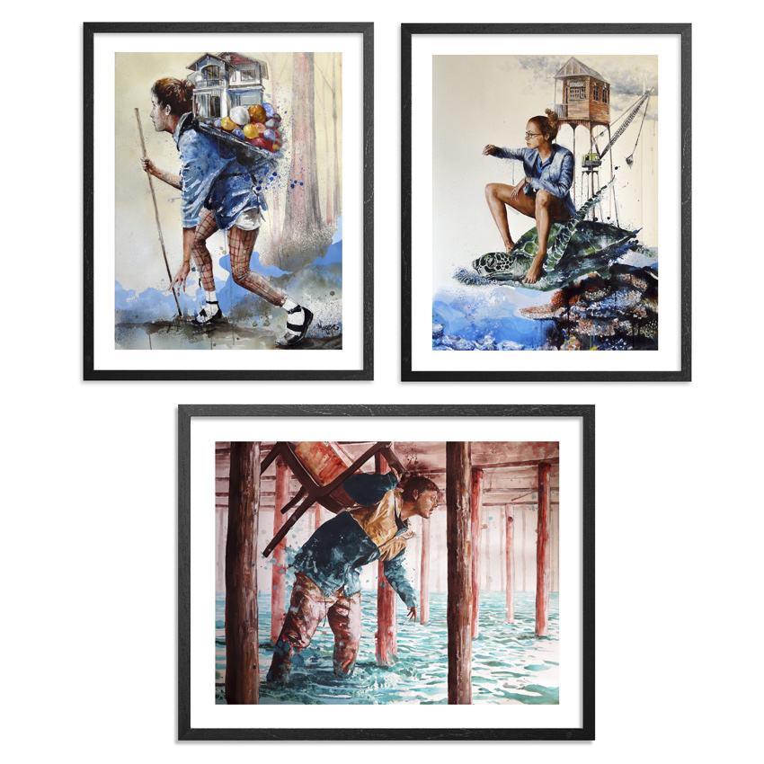 Fintan Magee Art Print - The Reef, The Explorer & The Afternoon - 3 Print Set