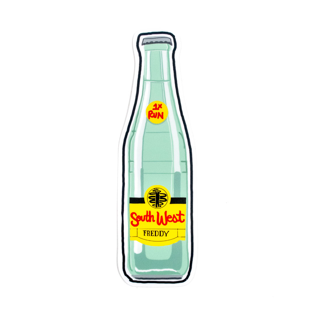 Freddy Diaz Art Print - Southwest Freddy - Topo Chico - Artist Sticker
