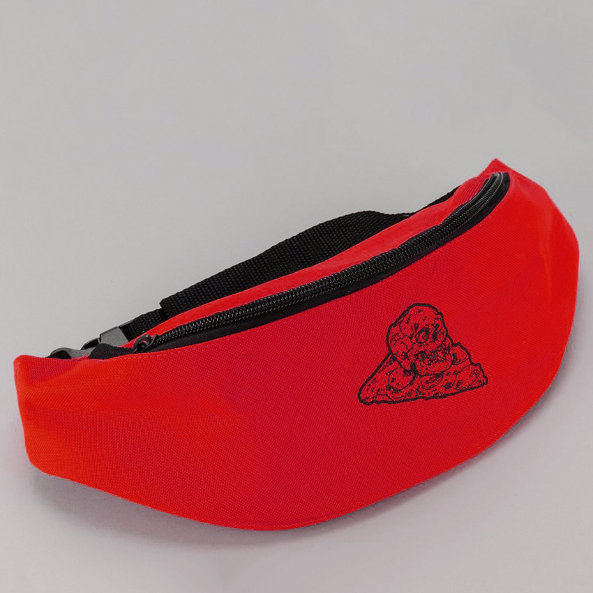 French Clothing - Pizza Skull Fanny Pack - Red