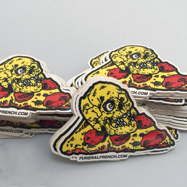 French Art - Pizza Sticker x 5 - Sticker Pack