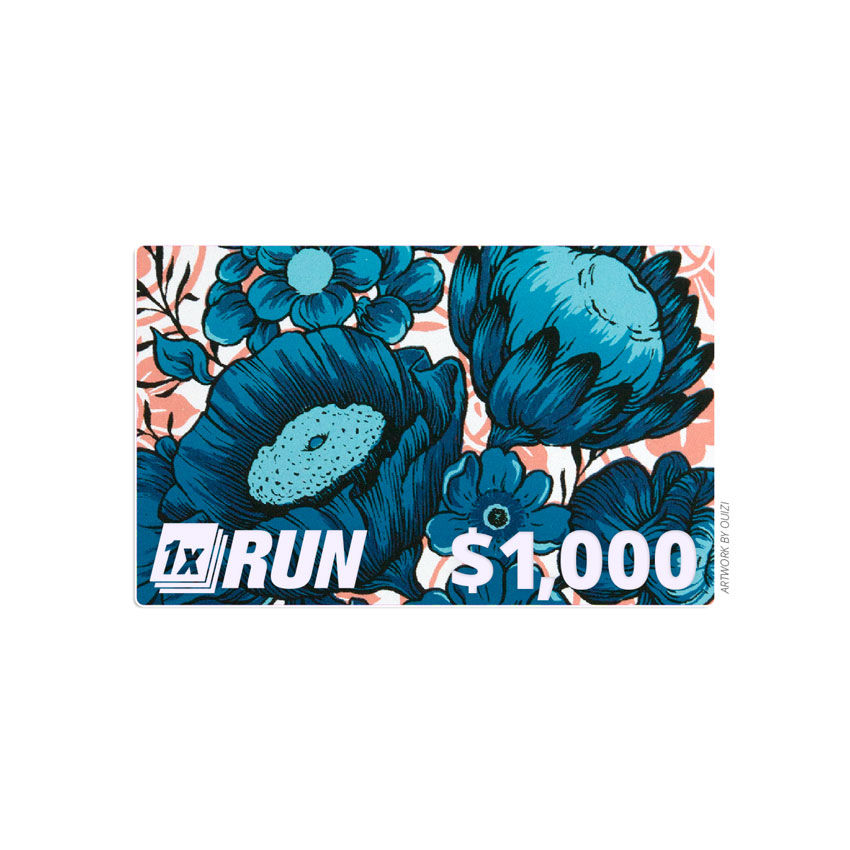 1xRUN Presents Art - $1000 Gift Card
