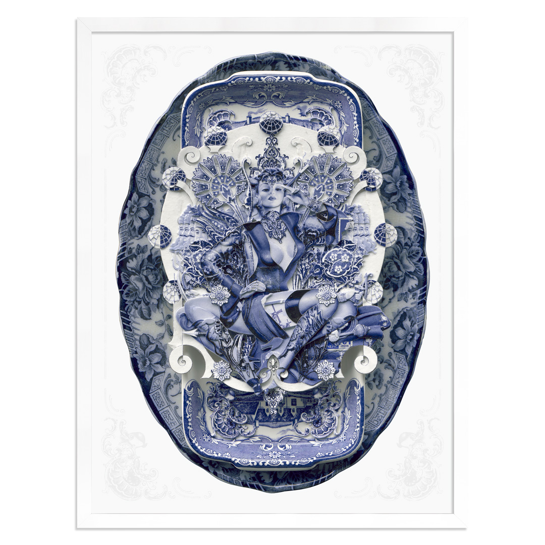 Handiedan Art Print - Bollywood Sugar In Blue - Silver Edition