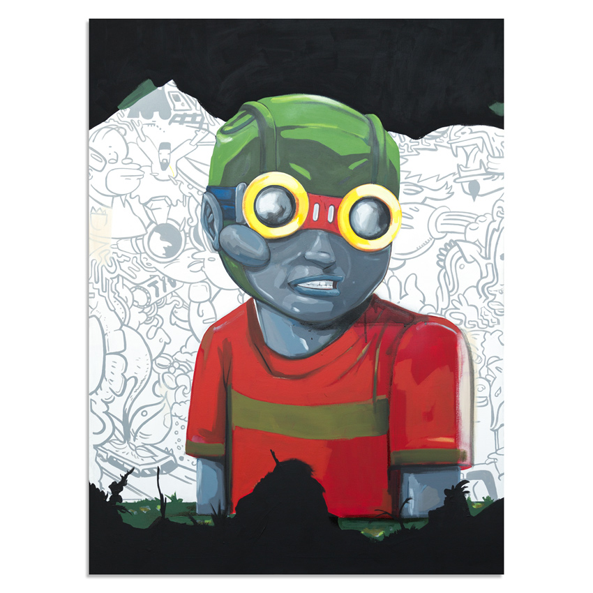 Hebru Brantley Original Art - No Gardens Pt. 3