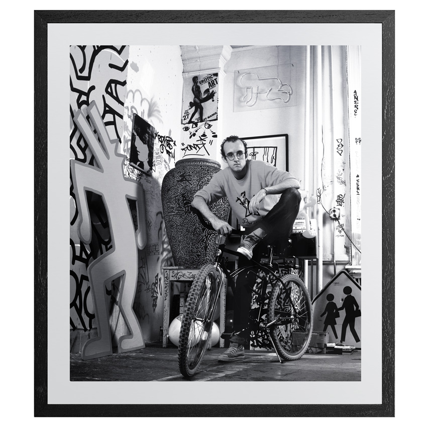 Janette Beckman Art Print - Keith Haring, New York 1985 - 20x24 Inch Aluminum Edition