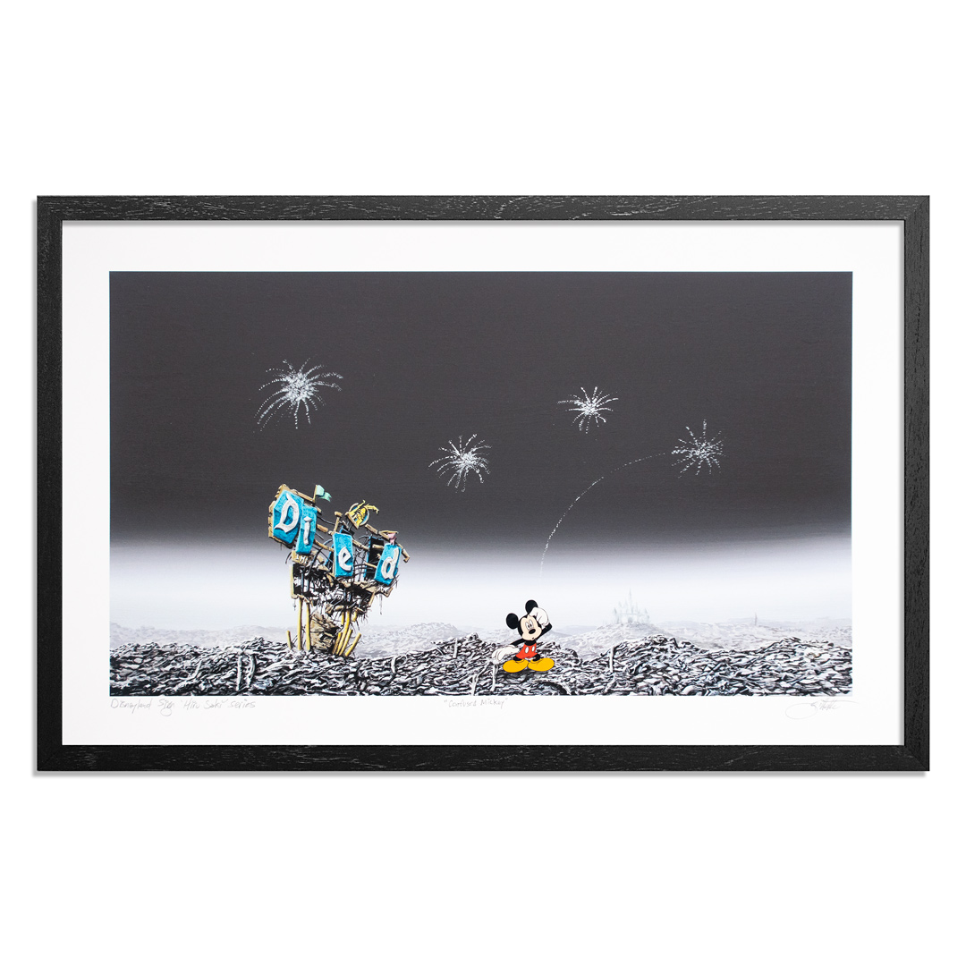 Jeff Gillette Art Print - Confused Mickey