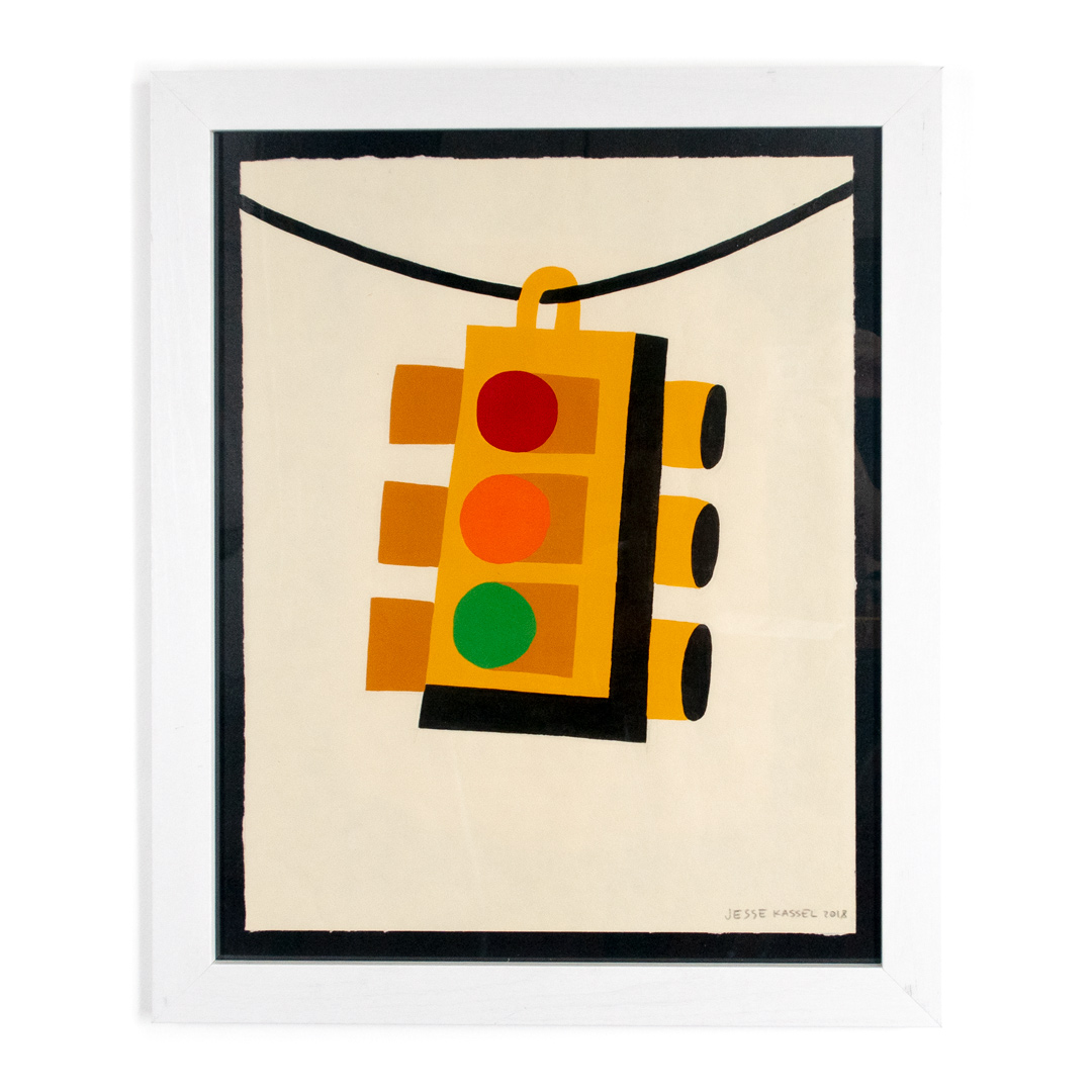 Jesse Kassel Original Art - Traffic Light Swaying