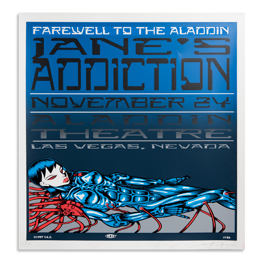 Jim Evans / Taz Art Print - Jane's Addiction - Aladdin Theatre - 1997