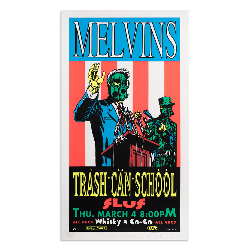 Jim Evans / Taz Art Print - Melvins - Trash Can School - 1993
