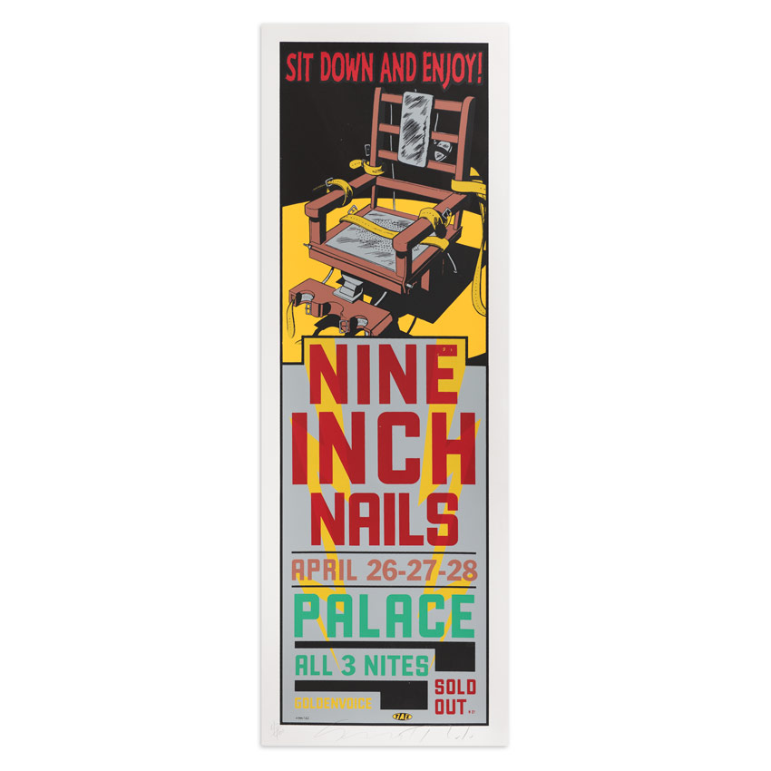 Jim Evans / Taz Art Print - Nine Inch Nails - Hollywood Palace - 1994