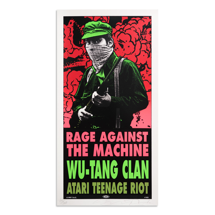 Jim Evans / Taz Art Print - Rage Against The Machine - Wu-Tang Clan - 1997