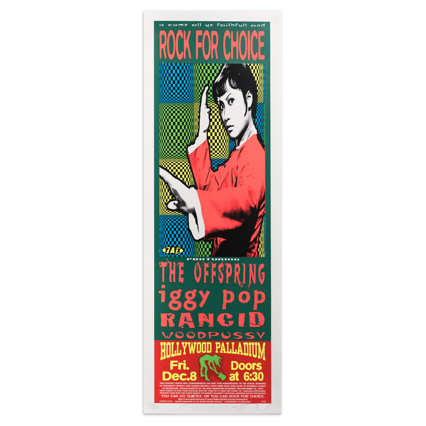 Jim Evans / Taz Art Print - Rock For Choice - Hollywood Palladium - 1995