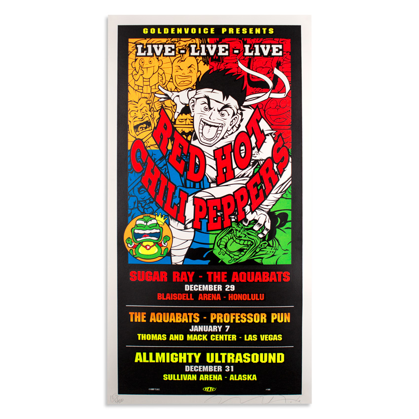 Jim Evans / Taz Art - Red Hot Chili Peppers, Sugar Ray & Aquabats Tour 1997