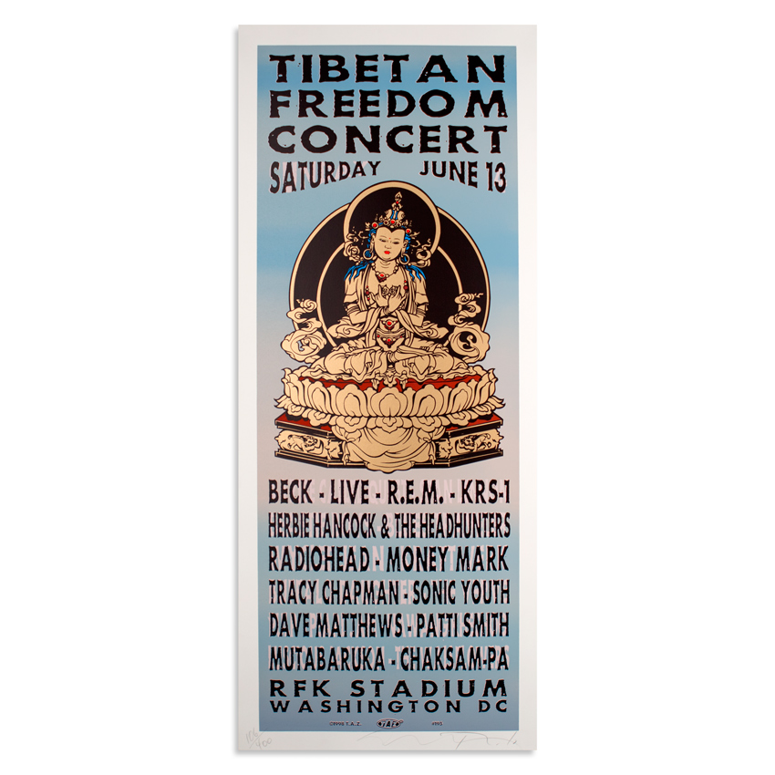 Jim Evans / Taz Art - Tibetan Freedom Concert - June 13th, 1998 at RFK Stadium