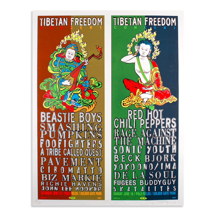 Jim Evans / Taz Art - Tibetan Freedom Concert - Beastie Boys, Red Hot Chili Peppers, Smashing Pumpkins - Jun. 15 & 16 at Golden State Park