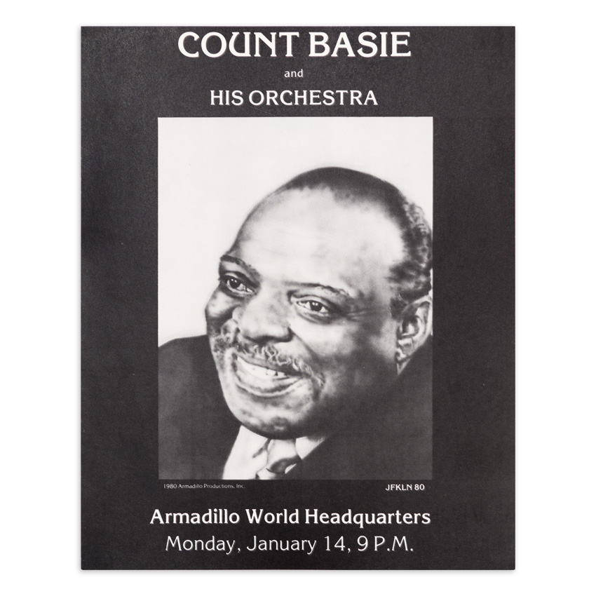 Jim Franklin Art Print - Count Basie and His Orchestra - Armadillo World Headquarters - 1980