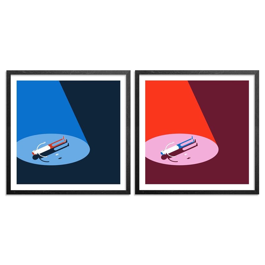 Jim Houser Art Print - Floats - 2-Print Set