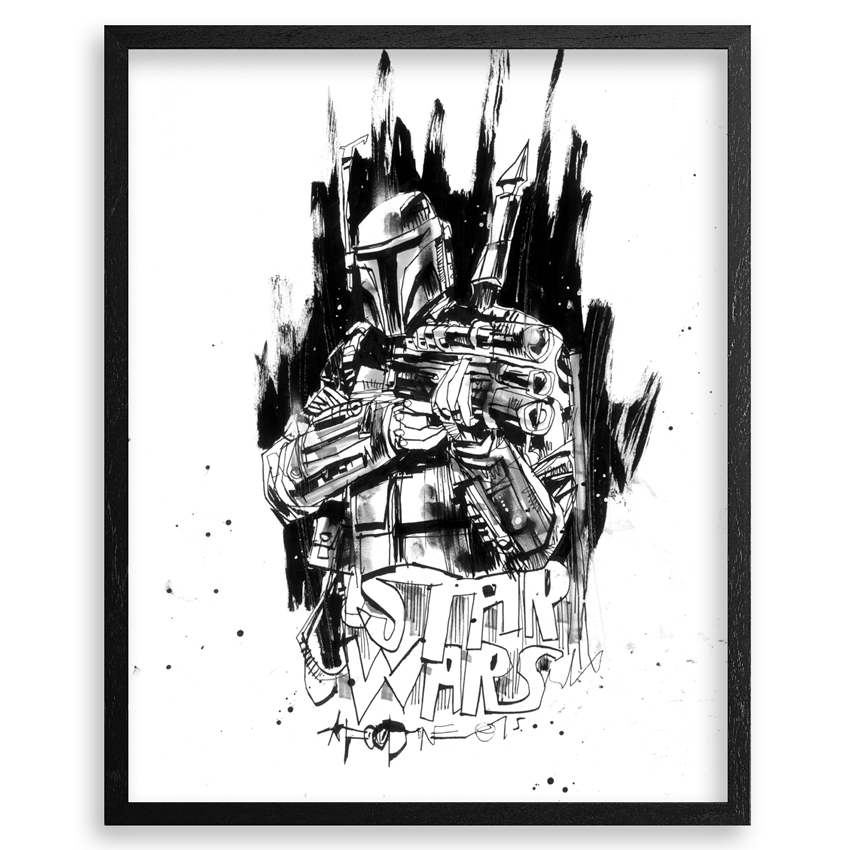 Jim Mahfood Original Art - Boba Fett