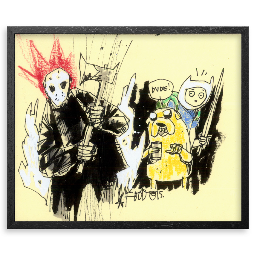 Jim Mahfood Original Art - Friday Adventuretime 13th