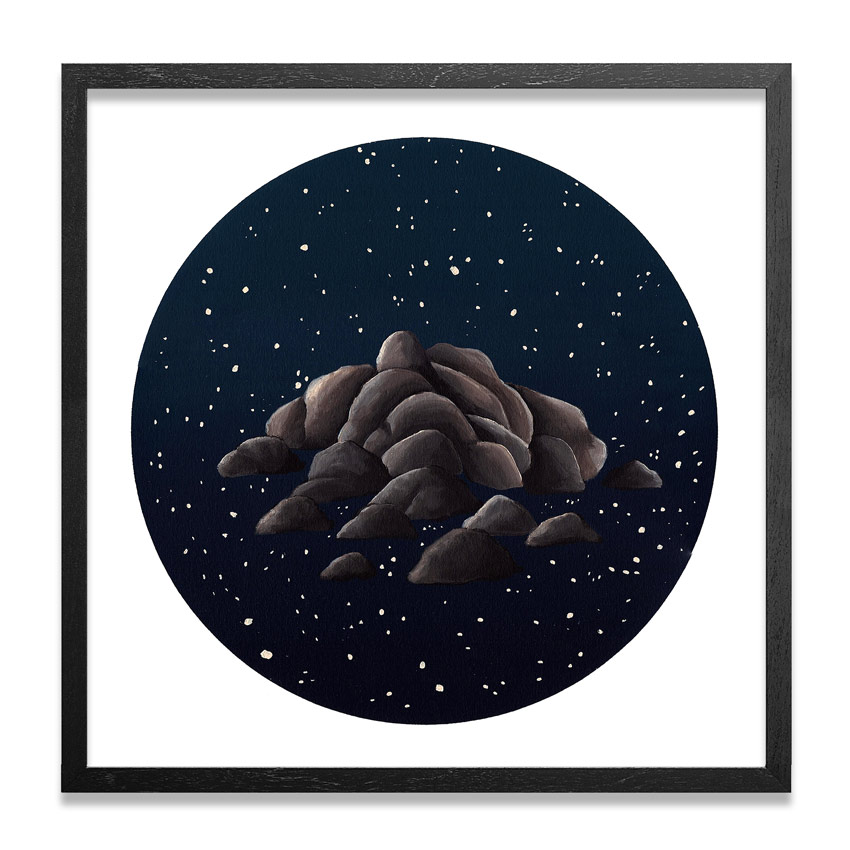 Jonny Alexander Original Art - Night And Stone