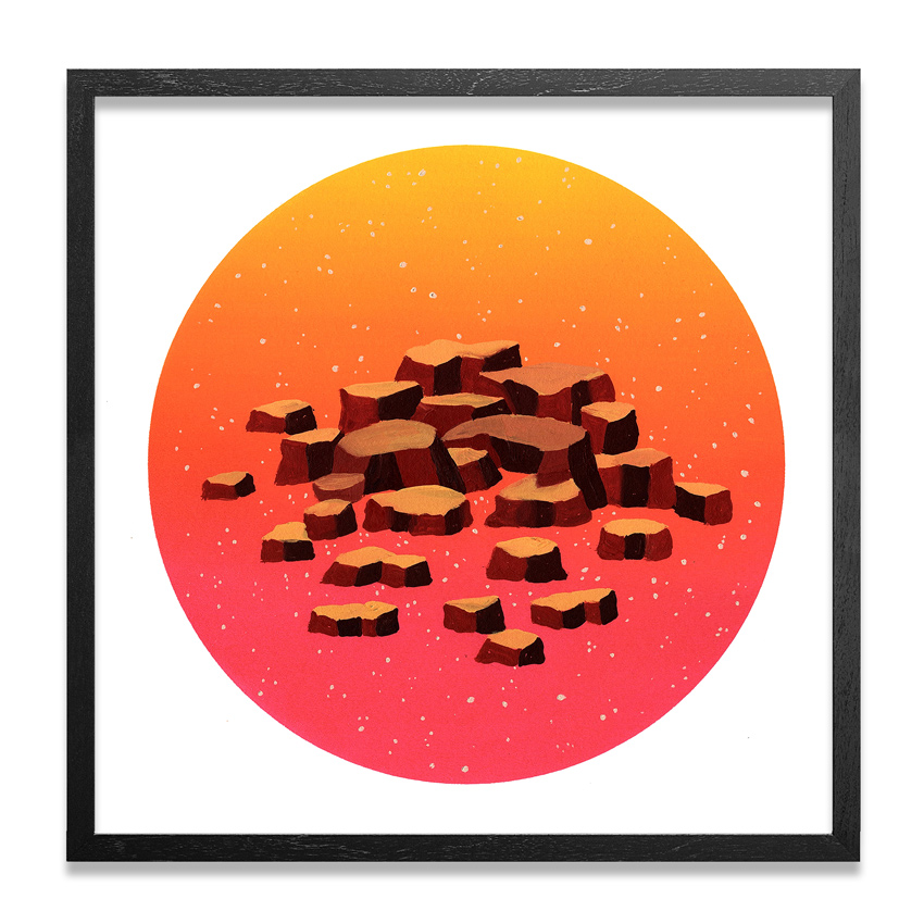 Jonny Alexander Original Art - Sun Rise And Stone