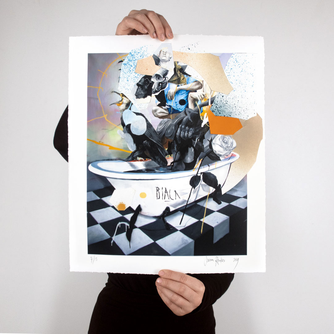 Joram Roukes Art Print - Black Widow's Baptism - Hand Embellished Edition