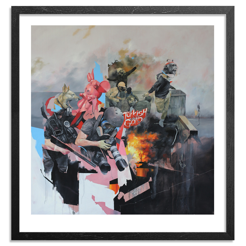 Joram Roukes Art Print - Turkish Gold - Hand-Embellished Edition