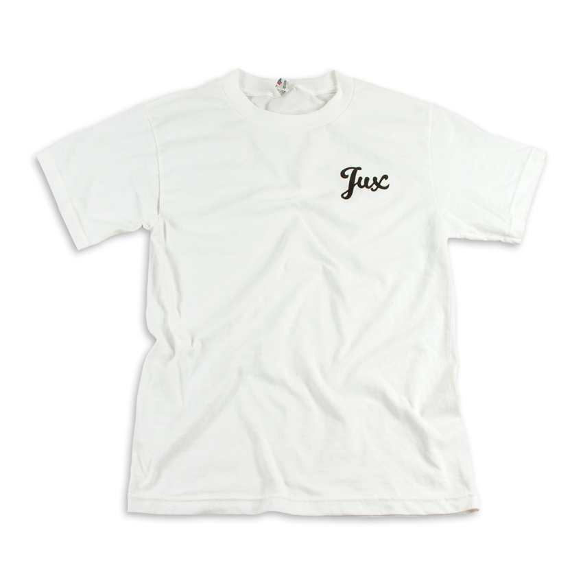 1xRUN Art - Medium - Jux Script Logo T-Shirt - Black on White