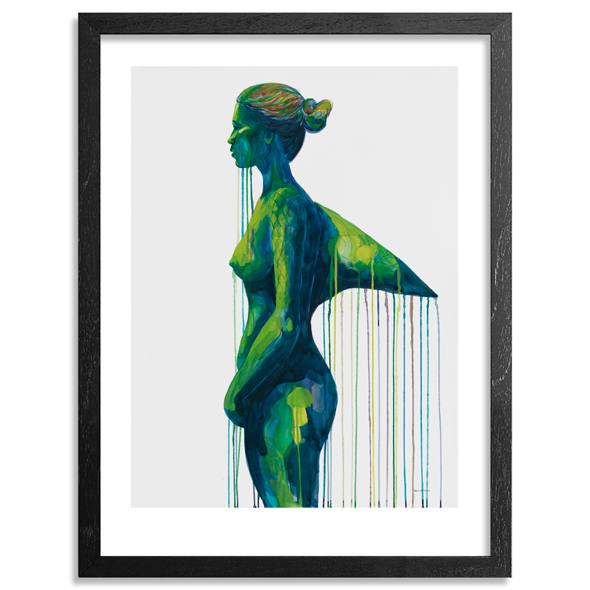 Kai'ili Kaulukukui Art Print - Green Shark Girl