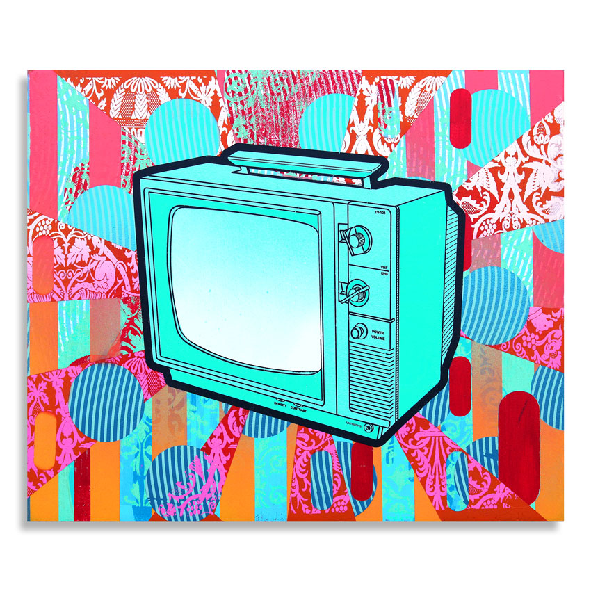 Kay Gregg Original Art - Double X Television (For Her)