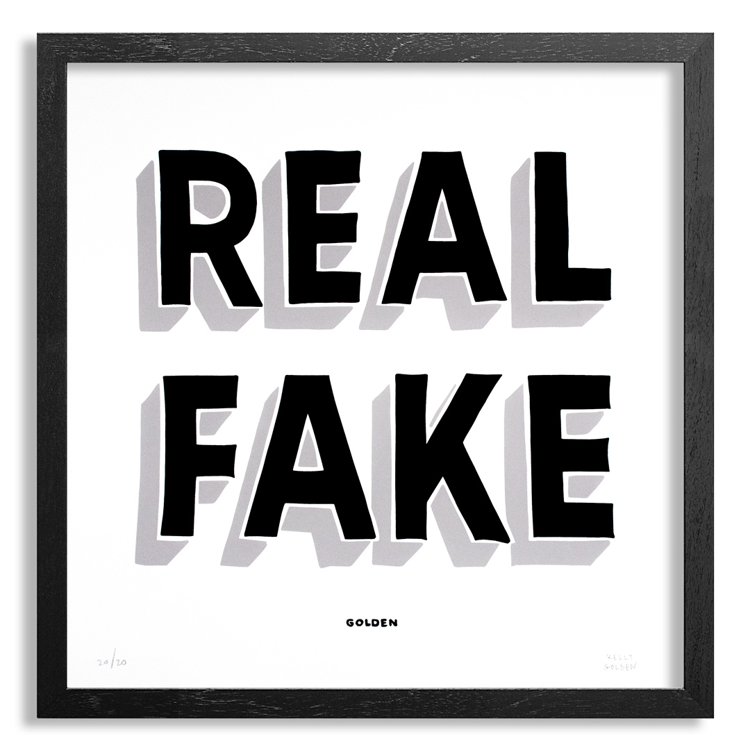 Kelly Golden Art Print - Real Fake