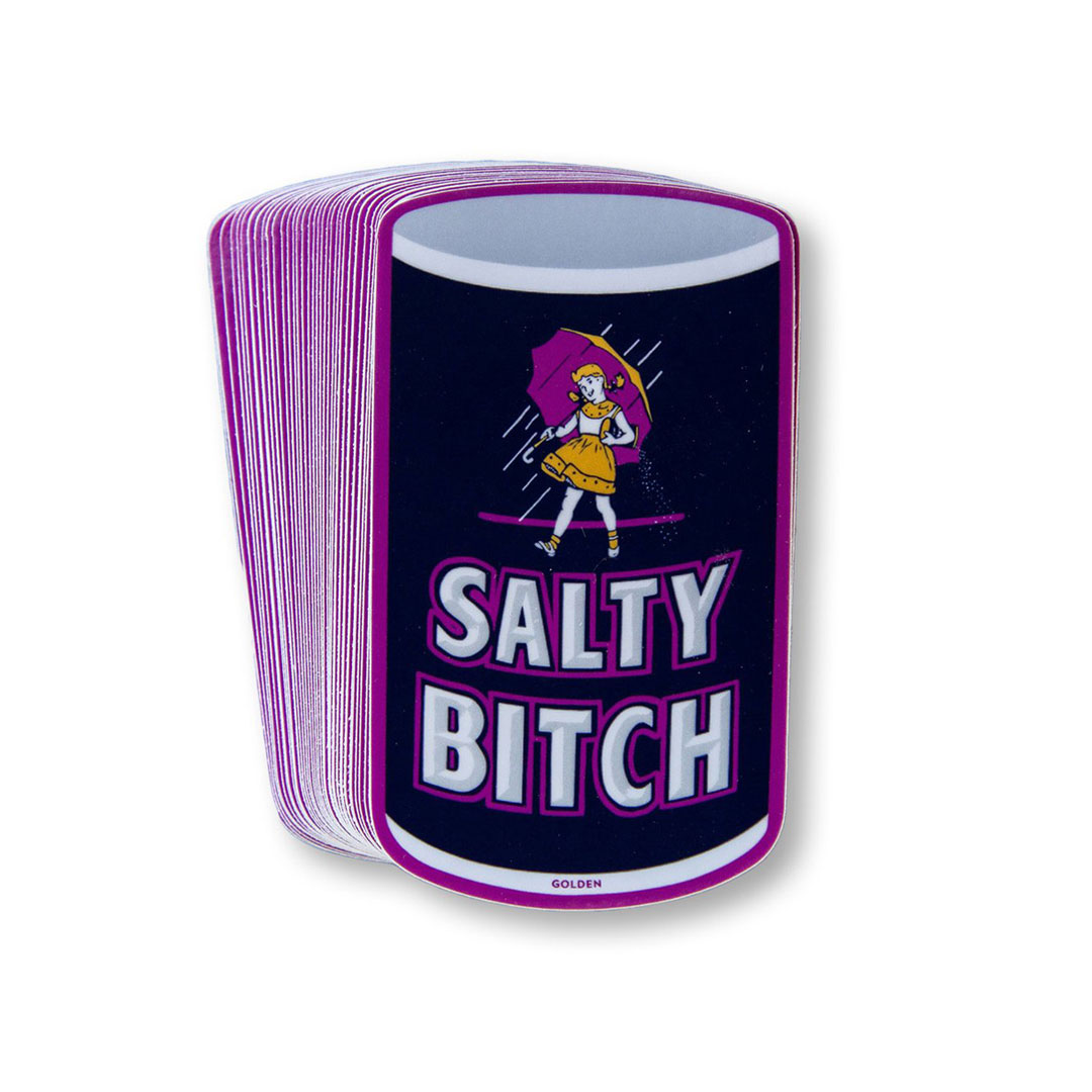 Kelly Golden Art - Salty Bitch - Artist Stickers
