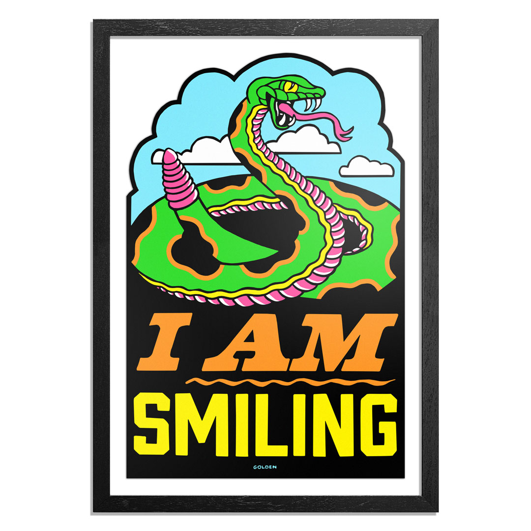 Kelly Golden Art Print - Smile More - Hand-Cut Prints