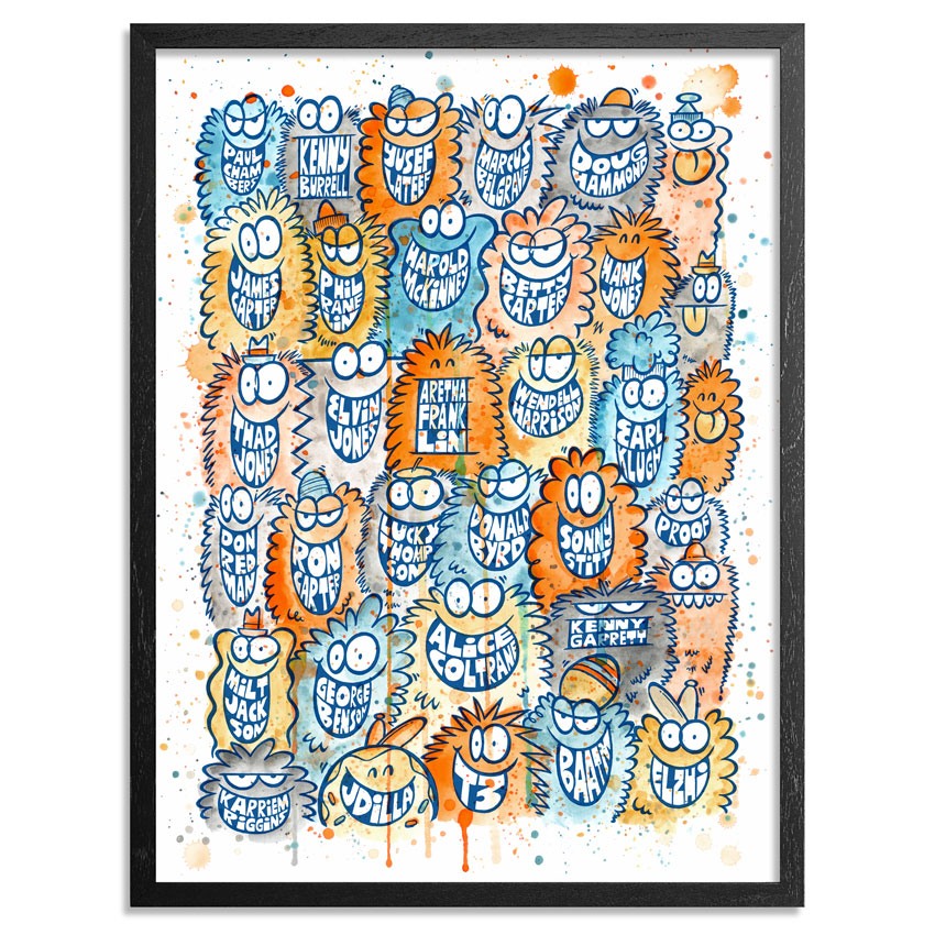 Kevin Lyons Art Print - Jazz City Giants: A Great Day In Detroit