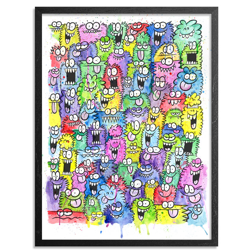 Kevin Lyons Art - Whirlwind Kicks And Hits From Every Angle - Framed
