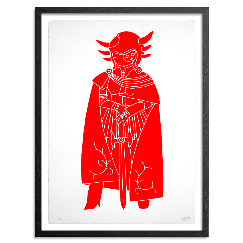 Kid Acne Art - Commander Makara - Fluorescent Red Edition