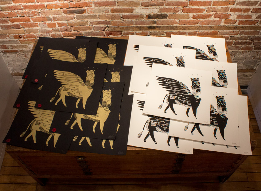 1xrun Collections Sphinx Limited Edition Screen Prints By Kid Acne
