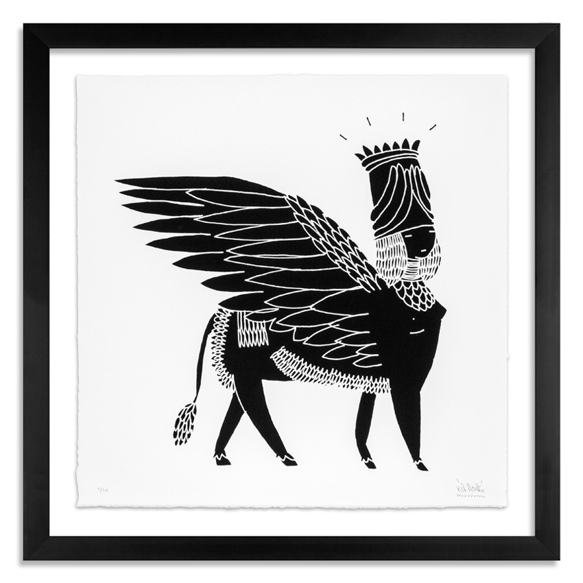Kid Acne Art - Sphinx - Black on White Edition